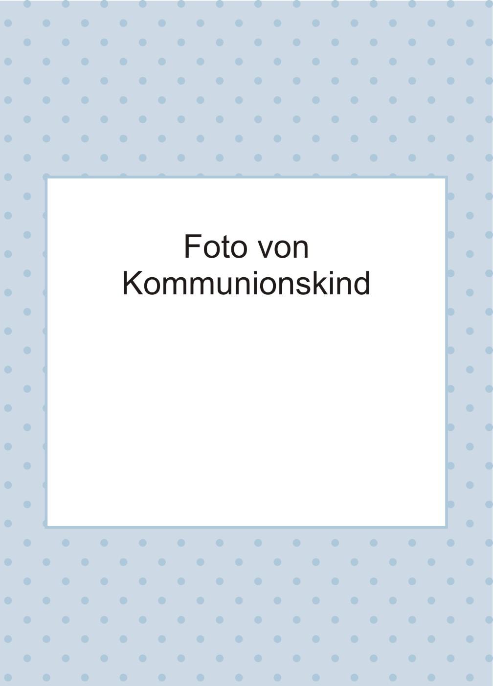 blaue einladungskarten zur kommunion mit wei em kreuz. Black Bedroom Furniture Sets. Home Design Ideas