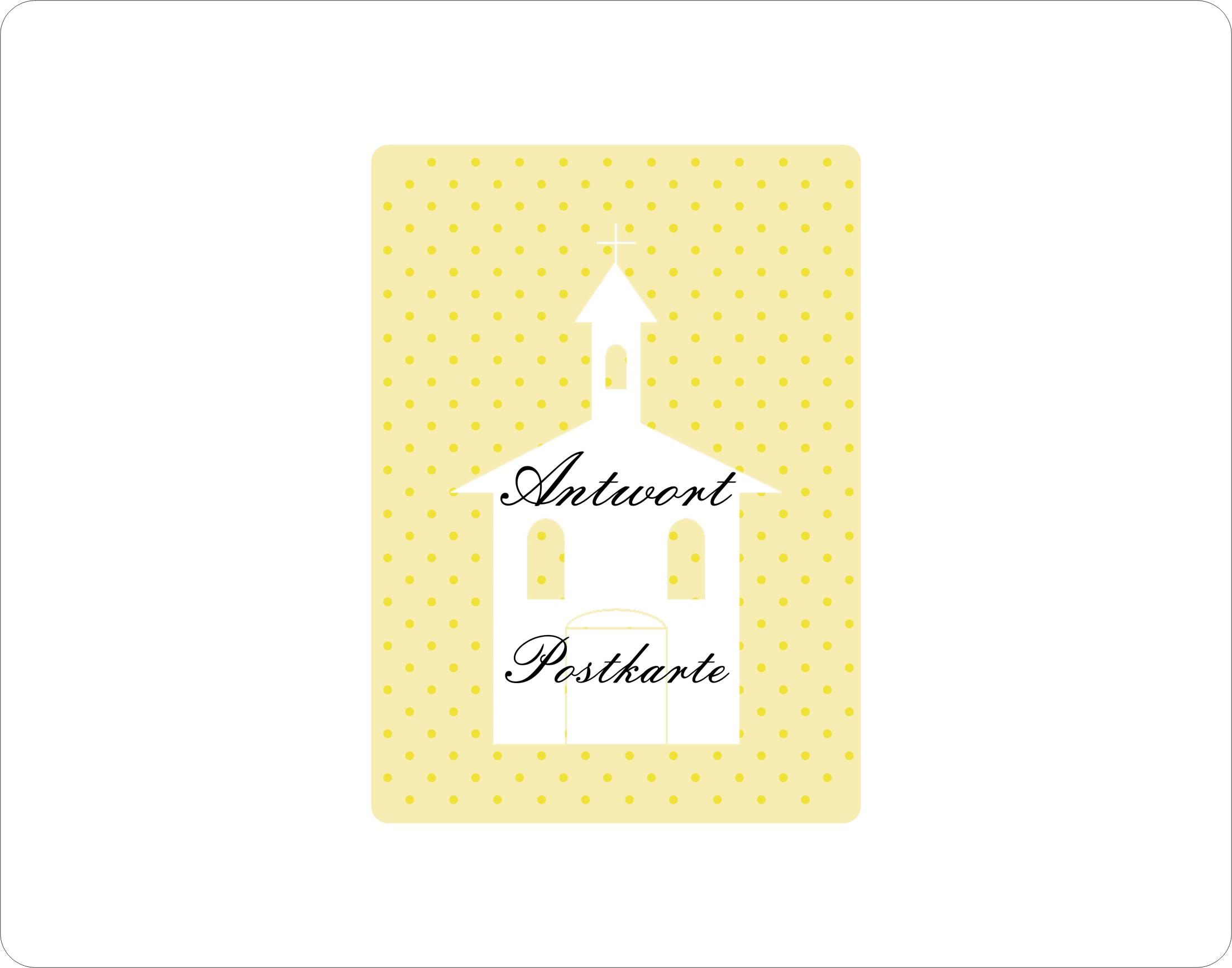 gelbe antwort-karten zur kommunion, firmung oder konfirmation mit, Wohnzimmer dekoo