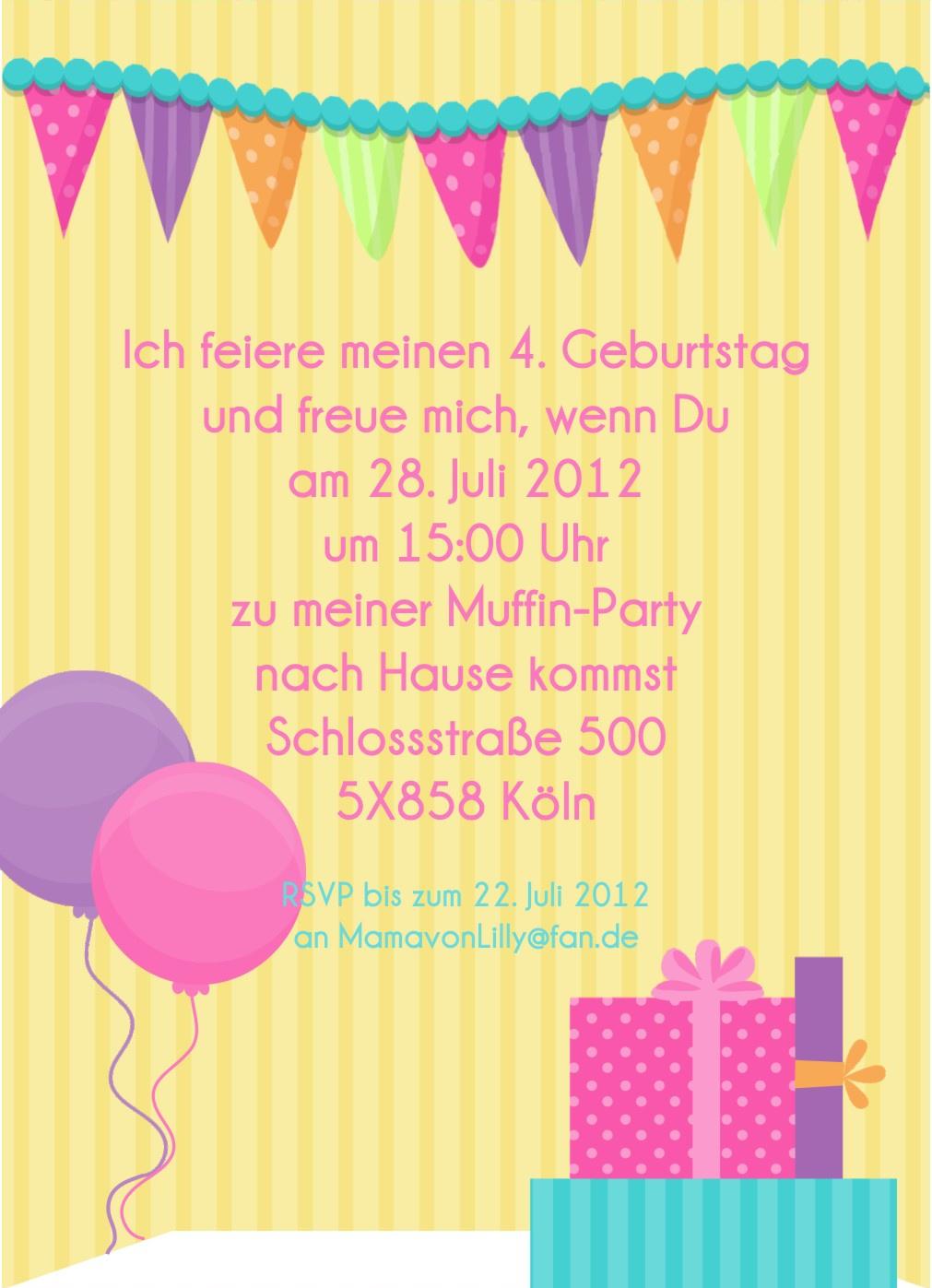 Geburtstags-Einladungskarten Muffin - www.Cartissimi.com