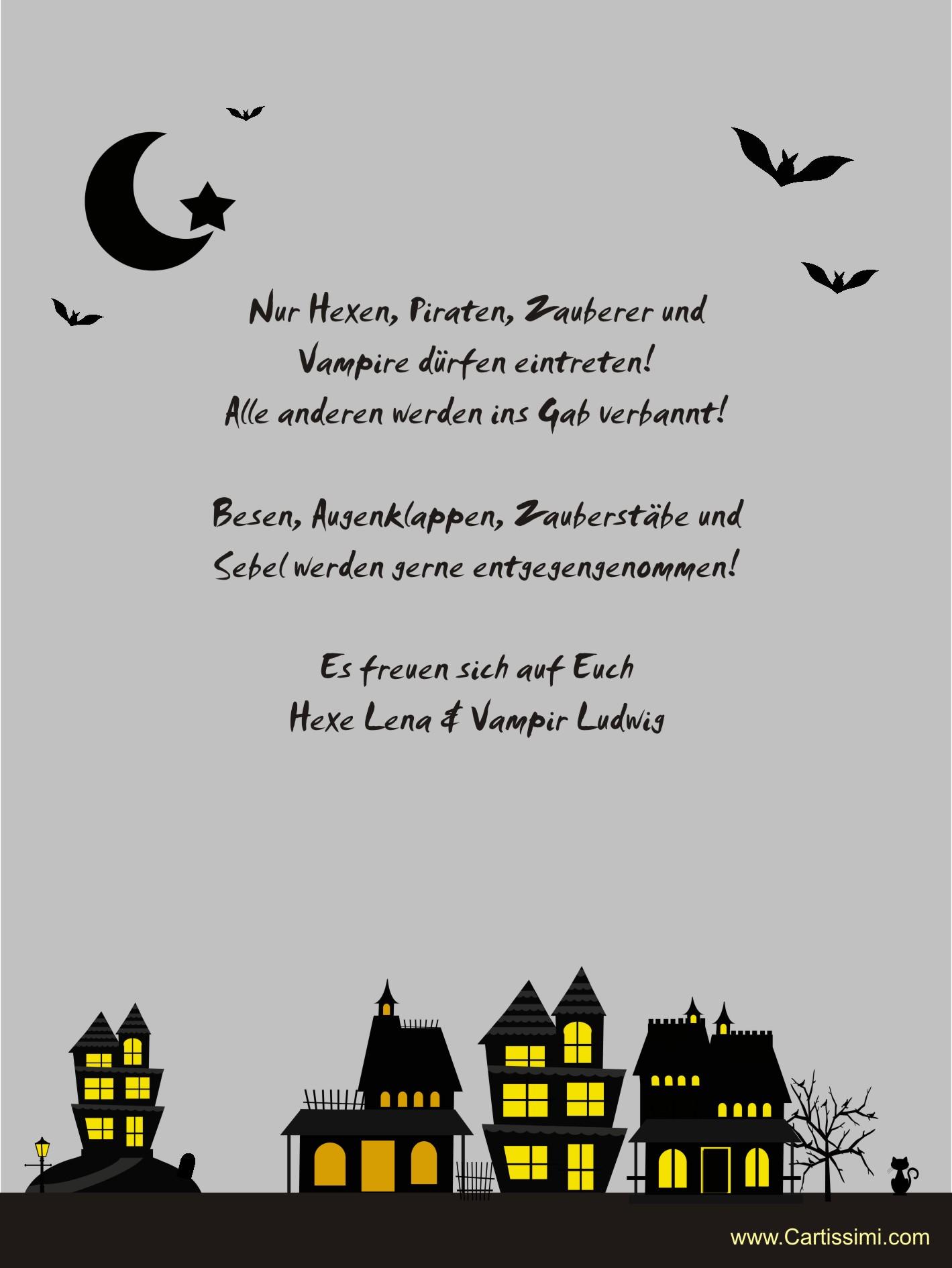 """Einladungskarten aus der Serie """"Spooky Homes"""" - www.Cartissimi.com"""