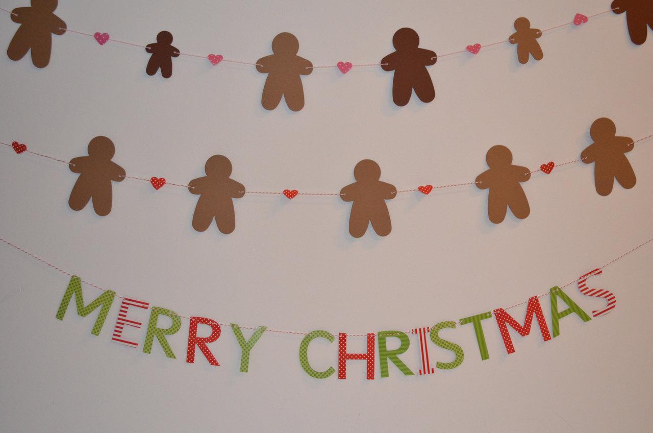 Weihnachts girlande mit buchstaben - Weihnachtsgirlande basteln ...