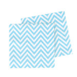 5 Party-Servietten mit Blau Weißem Chevron-Muster