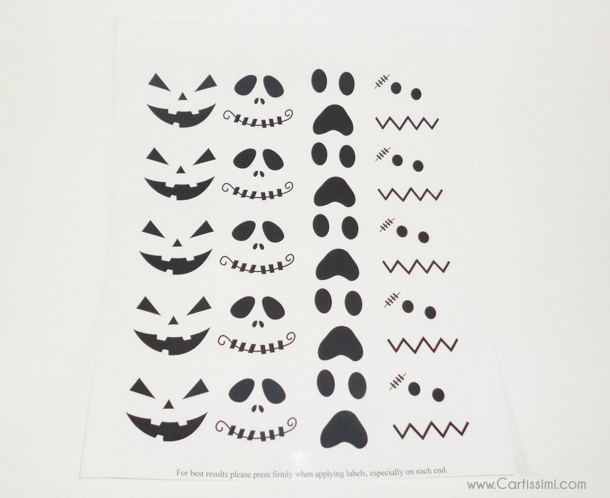 20 schaurig lustige halloween gesichter aufkleber. Black Bedroom Furniture Sets. Home Design Ideas