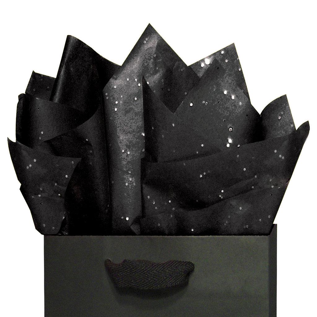 seidenpapier set in orange gr n und schwarz mit glitzer. Black Bedroom Furniture Sets. Home Design Ideas