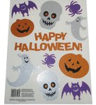 Halloween-Fenster-Glitzer-Dekoration – 11 Sticker
