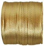 Satin-Kordel in Gold-Beige 25 Meter lang