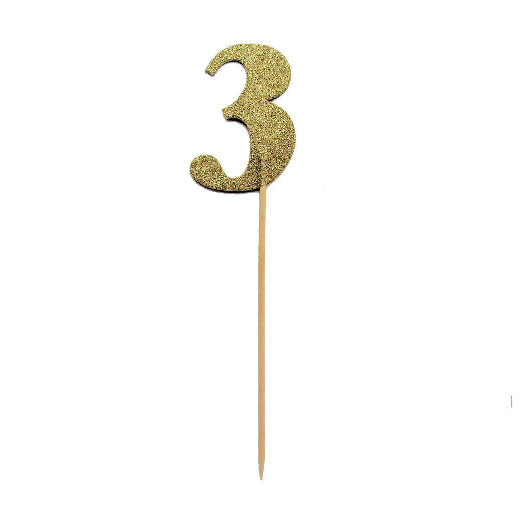 Gold Glitzernde Zahlen Kuchen Deko Topper Zahl 4 Www Cartissimi Com
