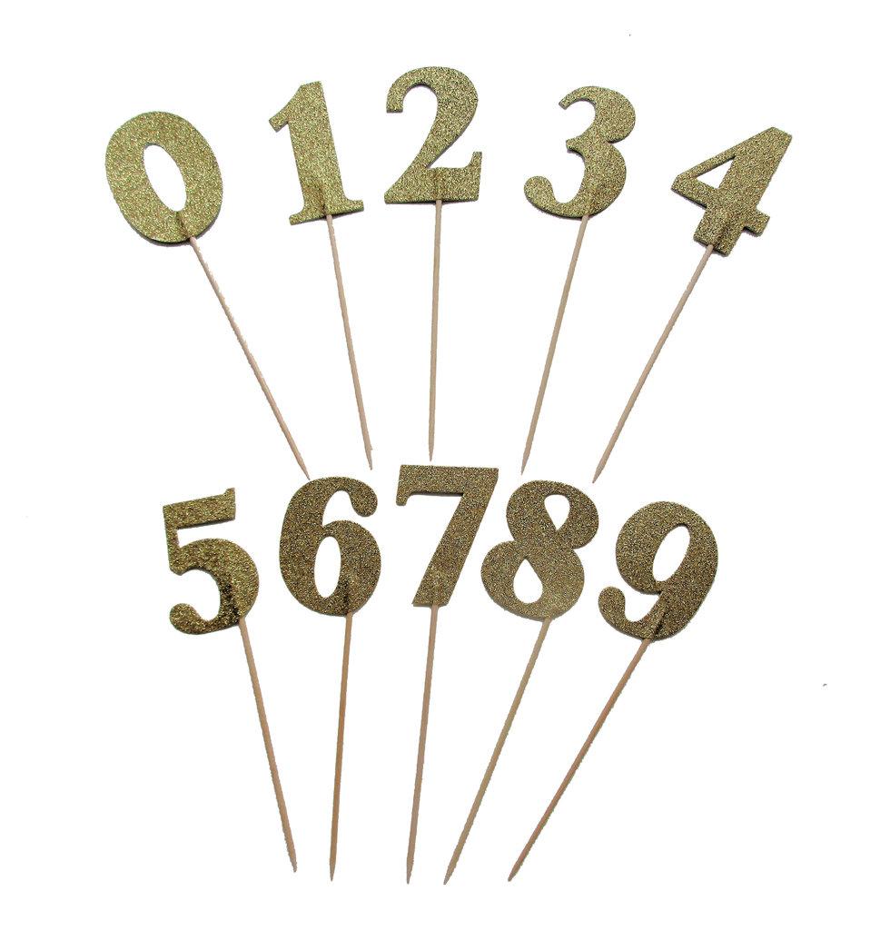 Gold Glitzernde Zahlen Kuchen Deko Topper Zahl 5 Www Cartissimi Com