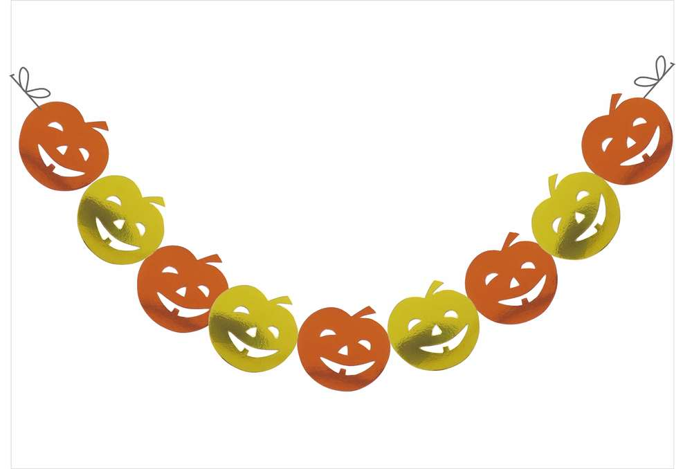 "Halloween Kürbis Girlande Serie ""Pamela Pumpkin"" - www.Cartissimi.com"