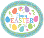"8 Oster-Servierplatten ""Happy Easter"""